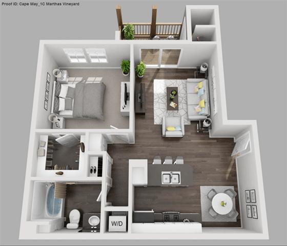 Floor Plan  Marthas Vineyard 1 bedroom 1 bathroom