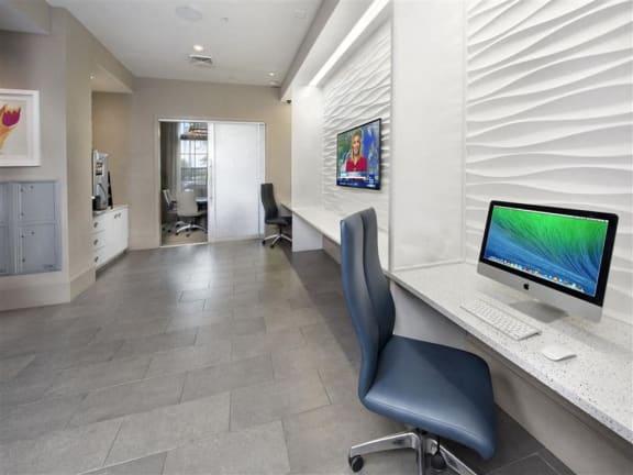 Business Center With High Speed Internet at Azul Baldwin Park, Orlando, FL, 32814