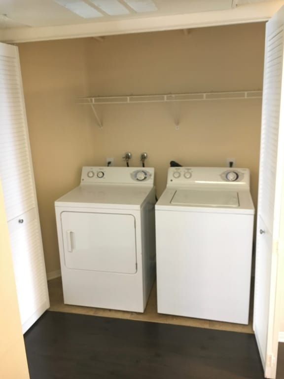 Washer and dryer in apartment homes at Legends at Rancho Belago, Moreno Valley, CA