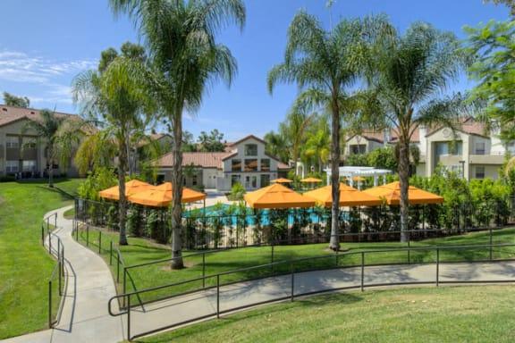 Lush landscapes at Legends at Rancho Belago, CA,93553