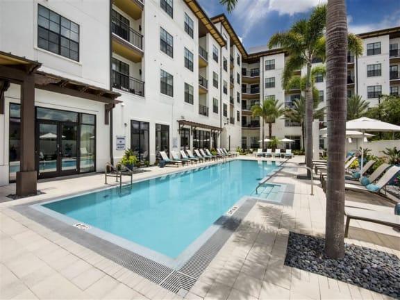 Blue Cool Swimming Pool at Azul Baldwin Park, Orlando, Florida