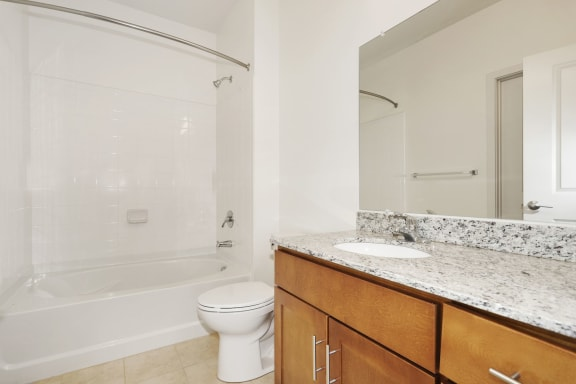 B2B Bathroom with mirror at Avenue Grand, White Marsh, MD