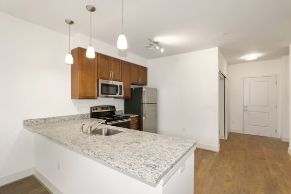 A7AD Kitchen with sink at Avenue Grand, Maryland