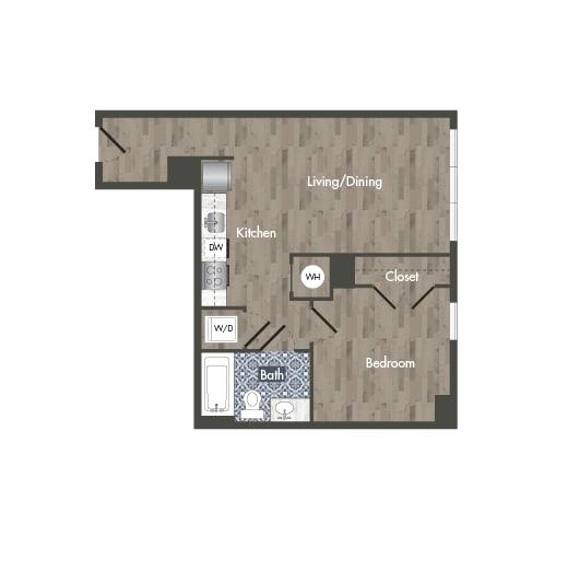 A19A  Floor Plan at Park Kennedy, Washington, 20003