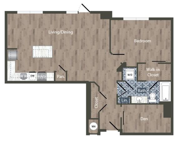 A26D Floor Plan at Park Kennedy, Washington, 20003