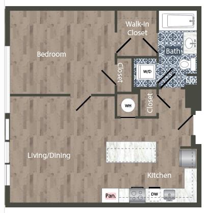 a28a Floor Plan at Park Kennedy, Washington, 20003