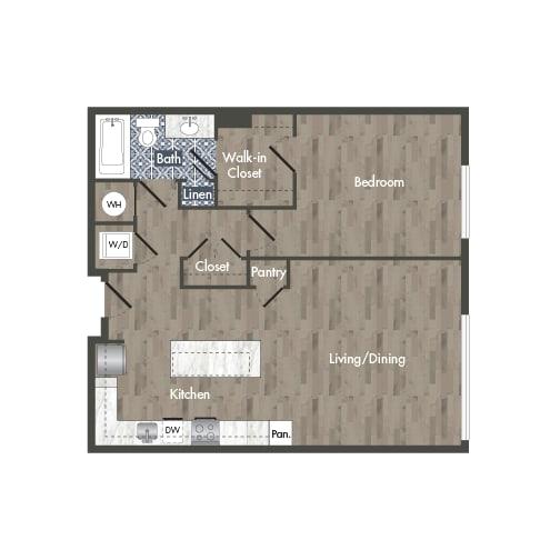 A2A Floor Plan at Park Kennedy, Washington