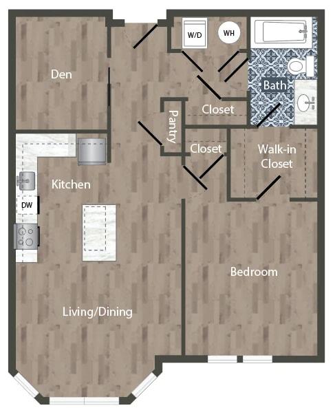 A2D Floor Plan at Park Kennedy, Washington, 20003