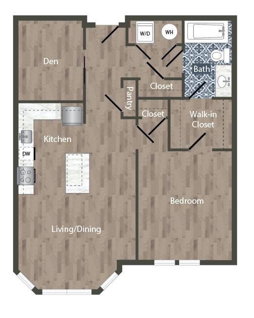 A8D Floor Plan at Park Kennedy, Washington, 20003