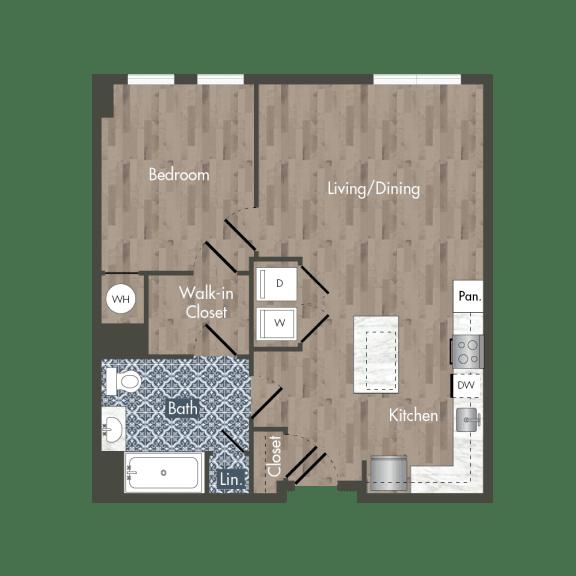 A12H Floor Plan at Park Kennedy, Washington