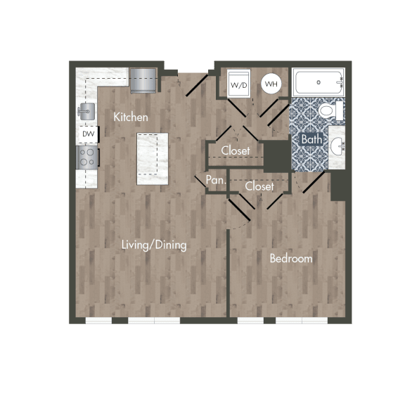 A5A Floor Plan at Park Kennedy, Washington