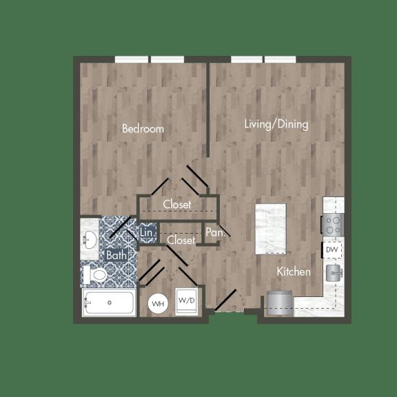 A9A Floor Plan at Park Kennedy, Washington, Washington