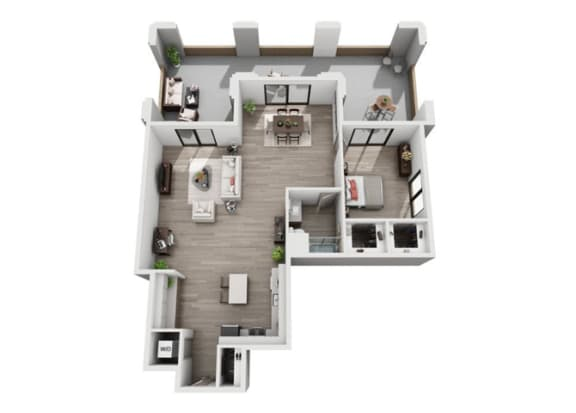 Floor Plan  at The Mansfield at Miracle Mile, Los Angeles