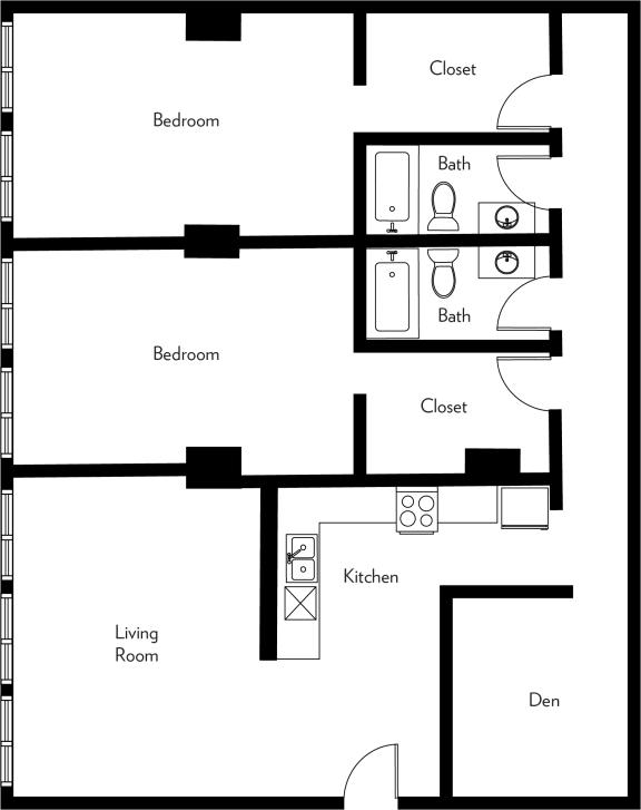 Floor Plan  B2-Z Floor Plan at The Luckman, Cleveland, Ohio