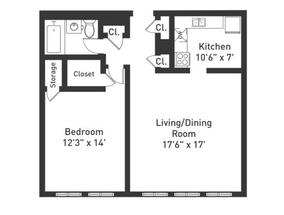Floor Plan  A2 Floor Plan at The Luckman, Ohio