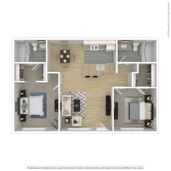 Acacia two bedroom two bathroom