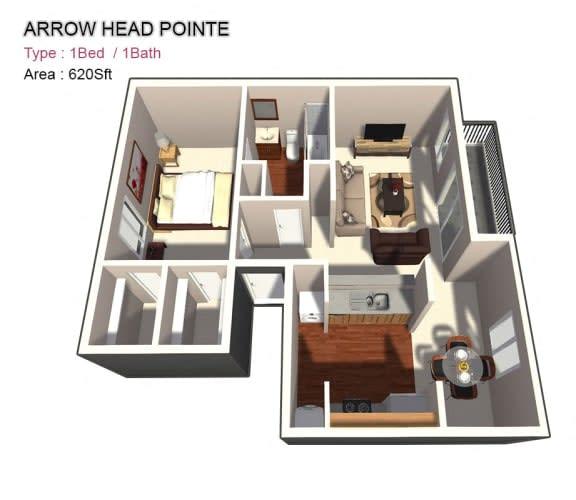 Floor Plan  1x1 Junior