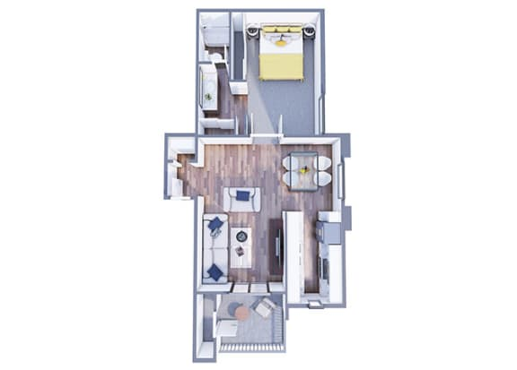 Floor Plan  Granada one bedroom one bathroom