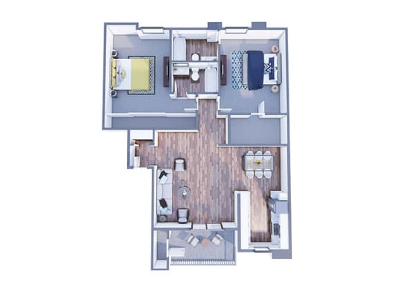 Floor Plan  Wrigley two bedroom two bathroom