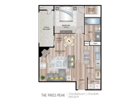 Pikes Peak one bedroom one bathroom
