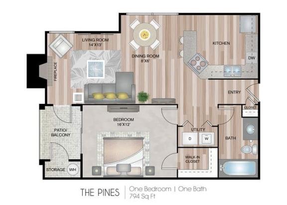Pines one bedroom one bathroom