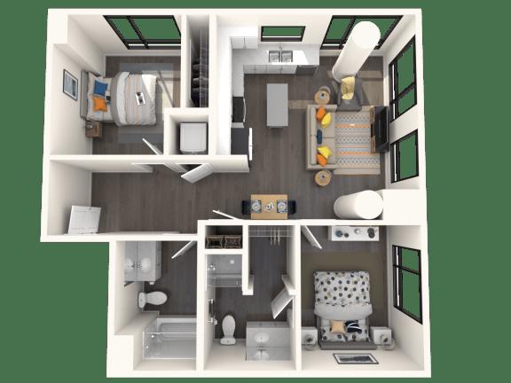 Floor Plan  Jules on 3rd B1 Floor Plan