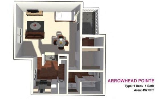 Floor Plan  studio floor plan 497 sf