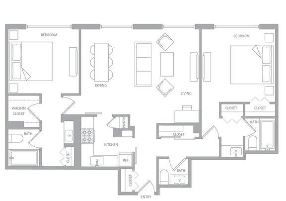 Floor Plan  b20a Floor Plan at Nob Hill Tower, San Francisco, California