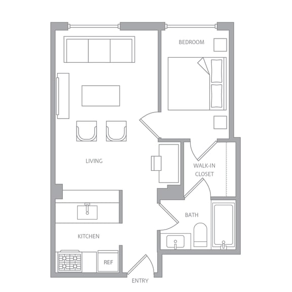 e10c Floor Plan at Nob Hill Tower, San Francisco, CA, 94109