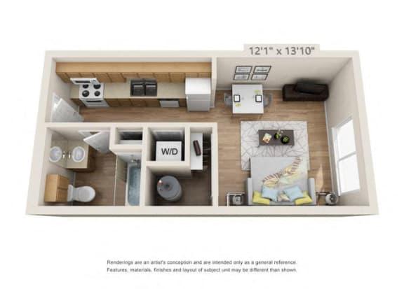 Floor Plan  Studio at 206, Oregon, 97006