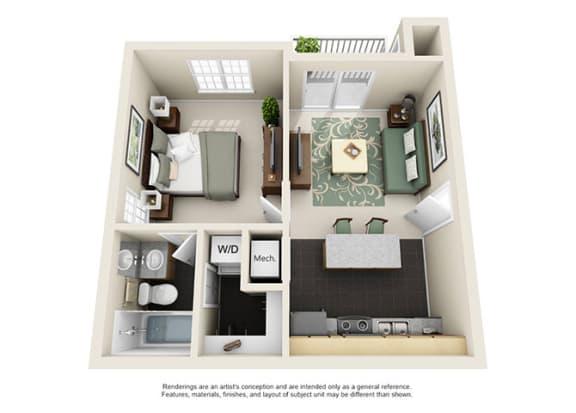 Uptown Buckhead Apartment Homes - 1 Bedroom 1 Bath Apartment