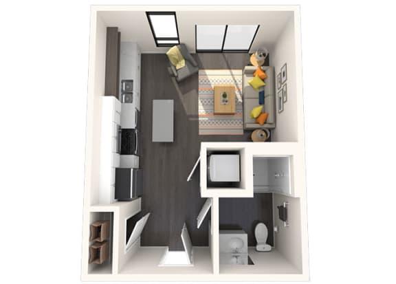 Floor Plan  M1 Studio 375 SF