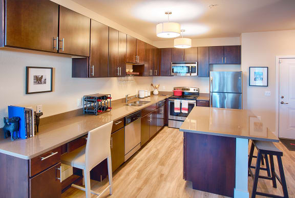 Kitchen with Chair at Rockvue, Colorado, 80021