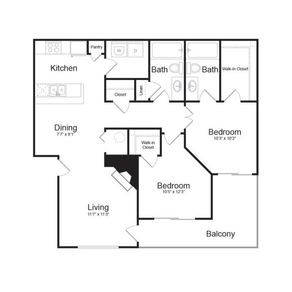Floor Plan  D Modern