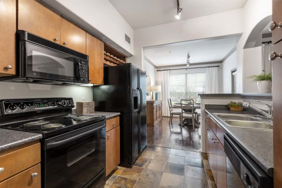 Black Appliance Package at Villas at Stone Oak Ranch, Texas, 78727