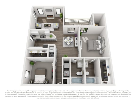Floor Plan  Floor Plan B20b 2 Bed 2 Bath