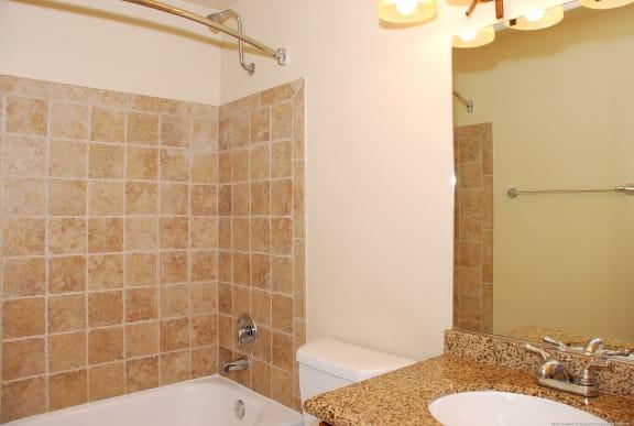Designer Bathroom Suites at Landing at Angle Lake Apartments, Washington