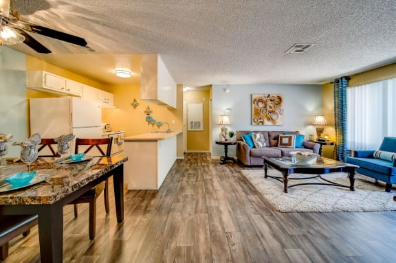 Wood Inspired Plank Flooring at Playa Vista Apartments, Pacifica SD Management, Las Vegas, NV, 89110