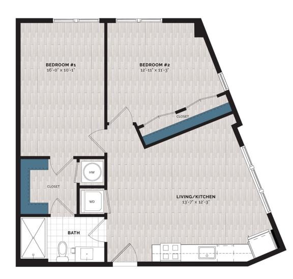 Floor Plan  B2-J