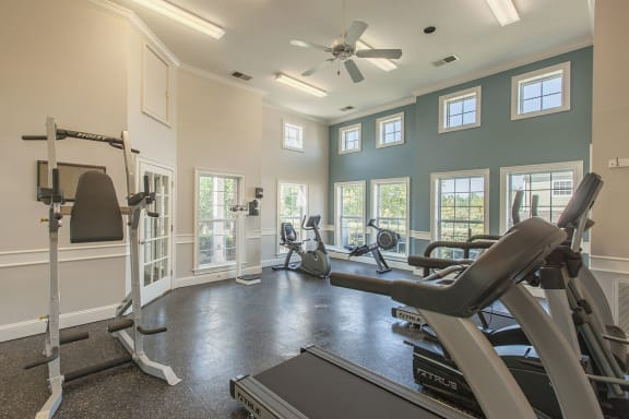 cardio training machines in the fitness center