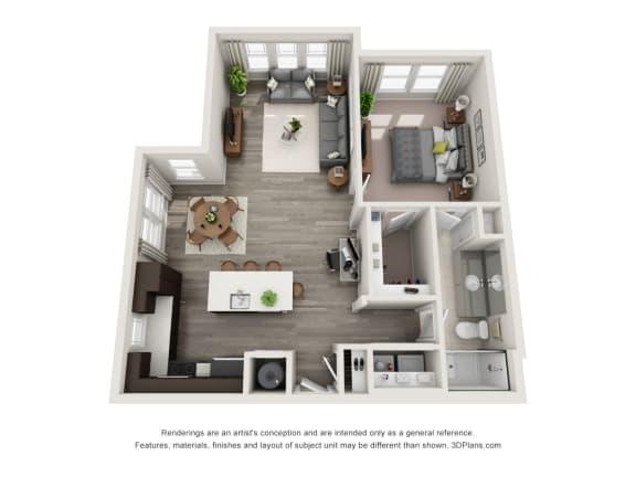 A2-S Floor Plan at Hudson at East, Orlando, 32828