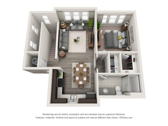 GA-02 Floor Plan at Hudson at East, Florida, 32828