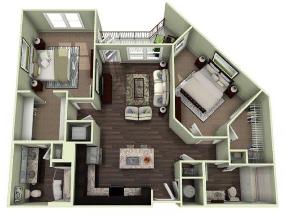 GROVEPARK Floor Plan at LaVie Southpark, North Carolina, 28209
