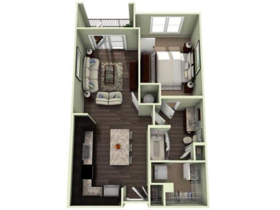LATTA Floor Plan at LaVie Southpark, Charlotte, NC, 28209