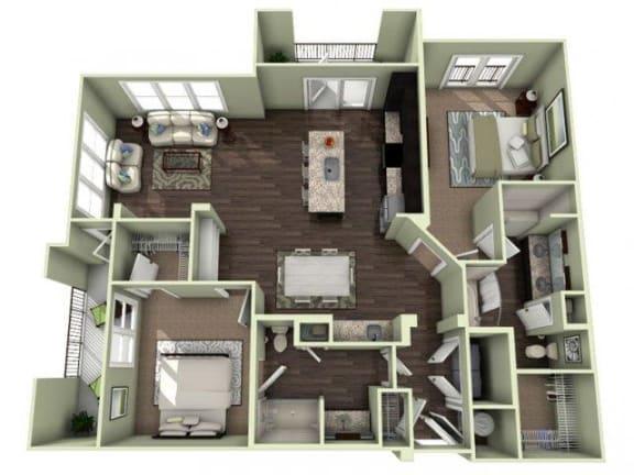 Sanctuary Floor Plan at LaVie Southpark, Charlotte