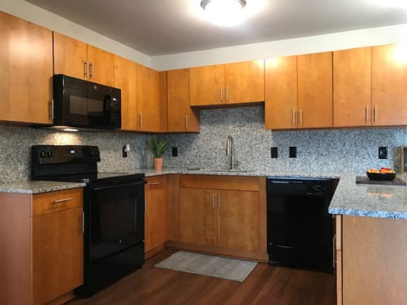 Fully Equipped Kitchen at Oliver Apartments, Temperance, Michigan