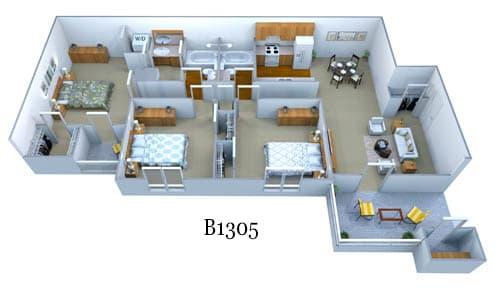 b1305 floor plan image