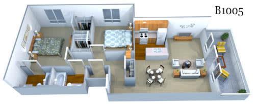 b1005 floor plan image