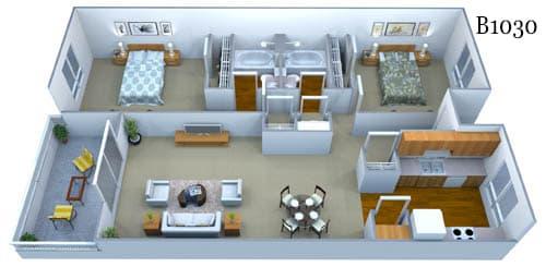 b1030 floor plan image