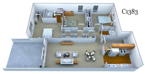 c1383 floor plan image
